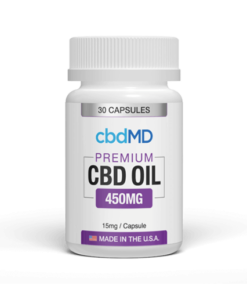 cbdMD Broad Spectrum CBD Capsules Sample