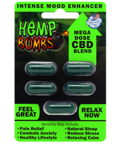 Hemp Bombs CBD Capsules Sample