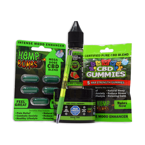 Hemp Bombs CBD Sample Pack 0% THC